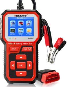 2 in 1 OBD2 Scanner & Battery Tester